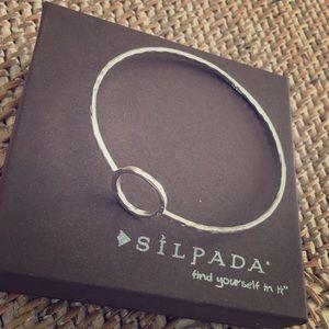 "Silpada "" Karma"" silver bangle bracelet."